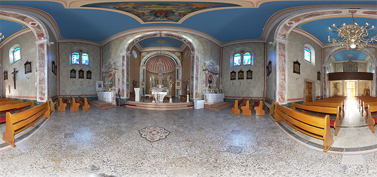 Church of st. Ante - Tučepi - 360°panormaic view